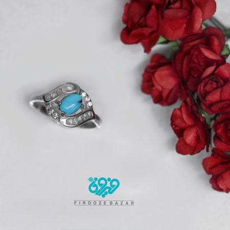 انگشتر نقره فیروزه نیشابوری زنانه Rs_0101